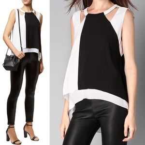 BCBGMAXAZRIA Bryianna Sleeveless Top XS
